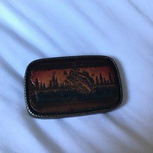 Vintage bass belt buckle